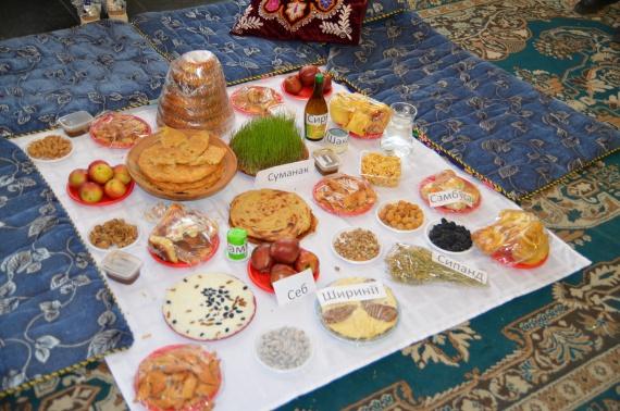 Традиционный праздничный стол...